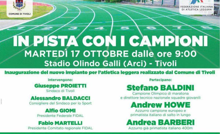 Baldini, Howe e Barberi: martedì 17 ottobre 2017 a Tivoli i campioni di atletica per l'inaugurazione dell'Olindo Galli