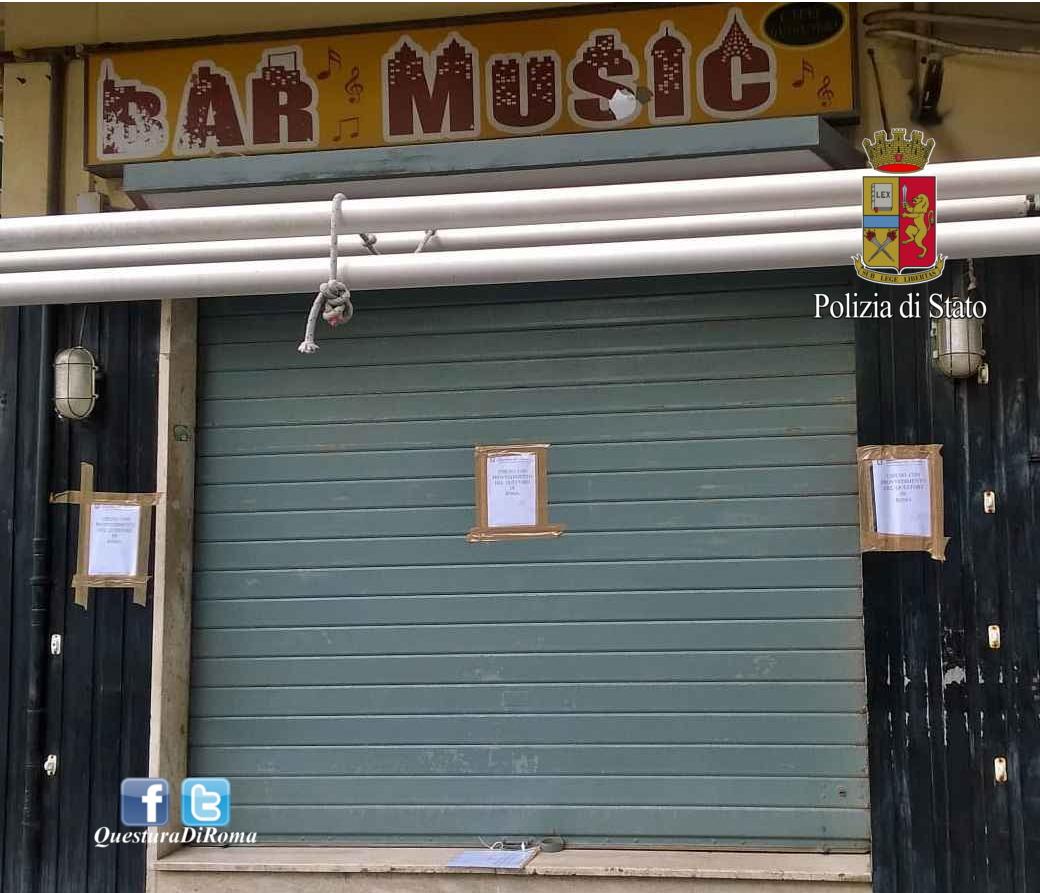 Ostia, Polizia di Stato chiude il Bar di Roberto Spada