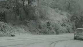 Sora, bufera di neve sulla SR666: in azione i mezzi spargisale e spazzaneve