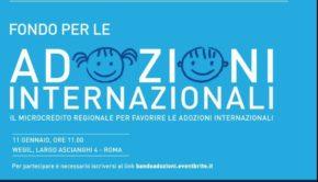 Dalla Regione Lazio il fondo per le adozioni internazionali. Il provvedimento legato al microcredito verrà presentato dal presidente Zingaretti giovedì 11 gennaio presso lo spazio WEGIL a Roma