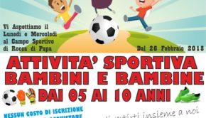 Real Rocca di Papa, la Scuola Calcio è Gratis per i più piccoli
