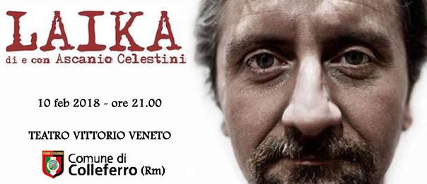 Ascanio Celestini a Colleferro con lo spettacolo teatrale Laika