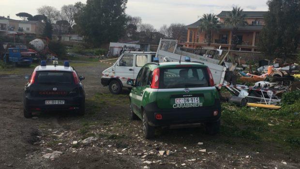 Discarica abusiva in area archeologica sull'Appia: due denunciati e area sequestrata