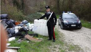 Sgurgola i Carabinieri trovano una discarica abusiva
