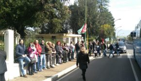 Colleferro, 350 lavoratori di Lazio Ambiente manifestano per far valere i loro diritti