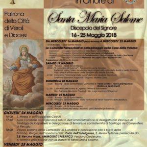 Veroli, in arrivo i festeggiamenti per la patrona Santa Maria Salome