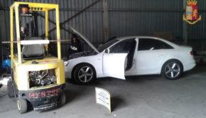 Smantellata officina abusiva che riciclava veicoli rubati a Pomezia: due arresti