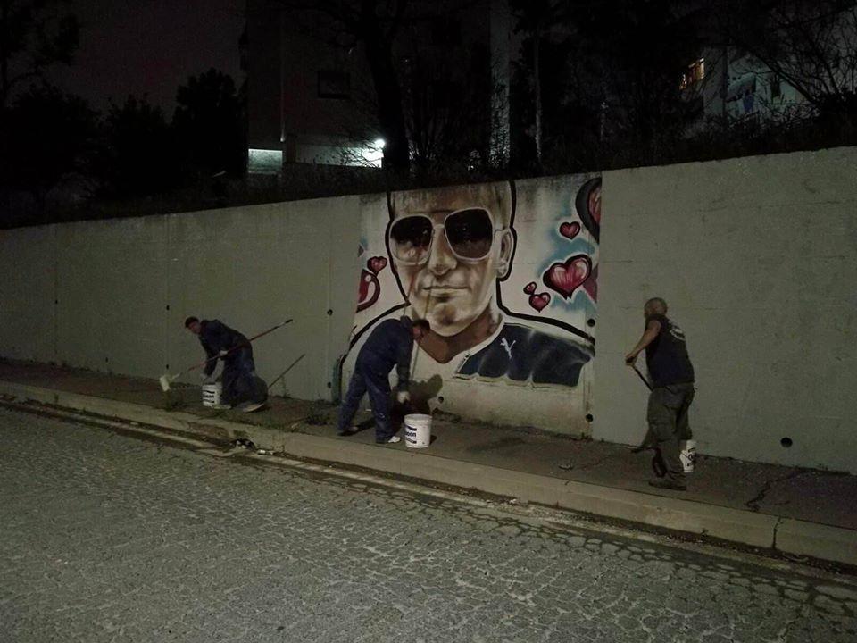 Tor Bella Monaca, rimossi murales inneggianti alla criminalità organizzata
