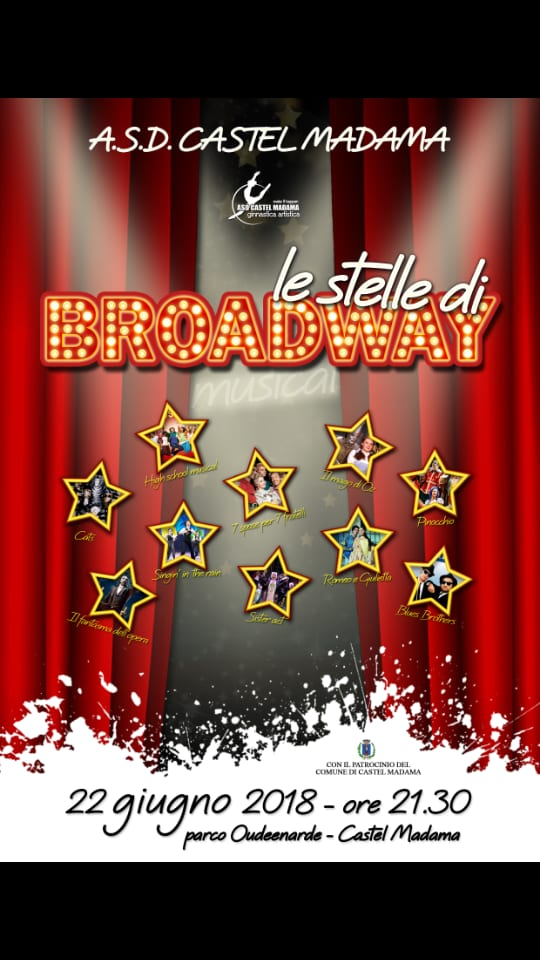 L'A.S.D. Castel Madama tra... Le stelle di Broadway: i dettagli dello spettacolo con ingresso gratuito