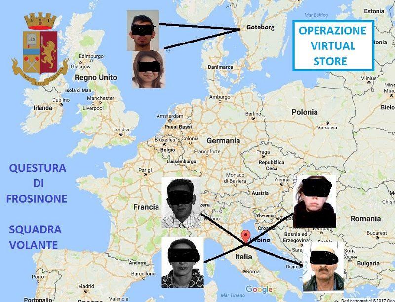 Sgominata banda della truffa online: 10 denunce a Frosinone e una nel sorano