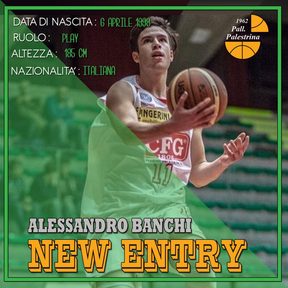 Palestrina acquista il secondo under: benvenuto ad Alessandro Banchi