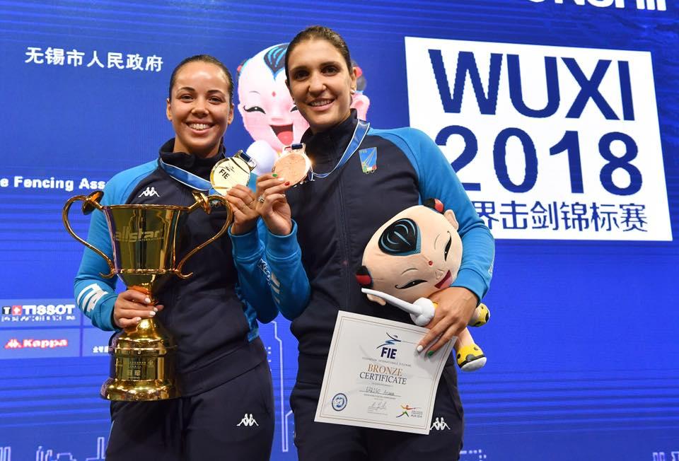 Frascati Scherma, Alice Volpi campionessa del mondo e Arianna Errigo medaglia di bronzo