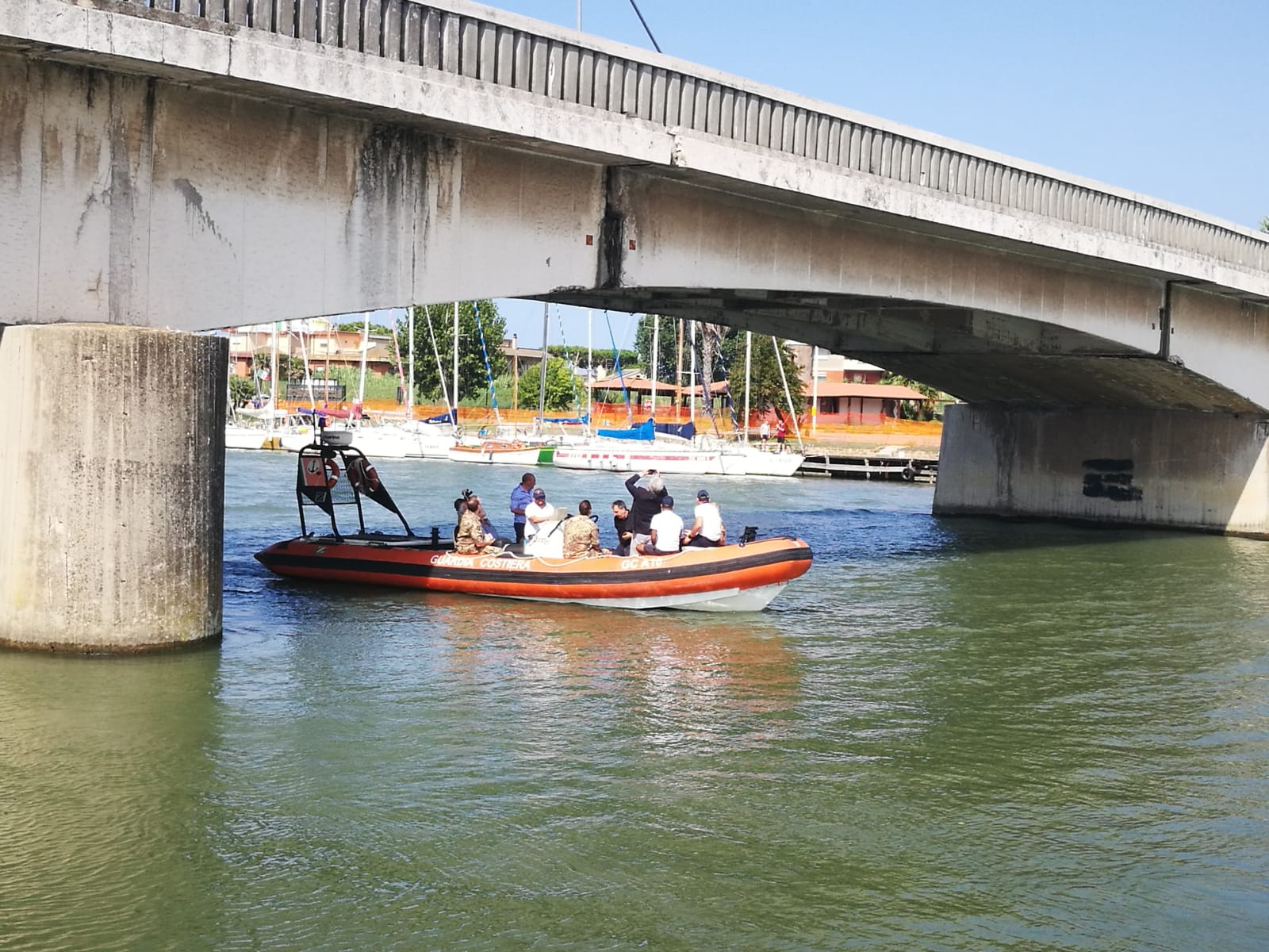 Ponte della scafa, sopralluogo del Genio militare per eventuale ponte alternativo