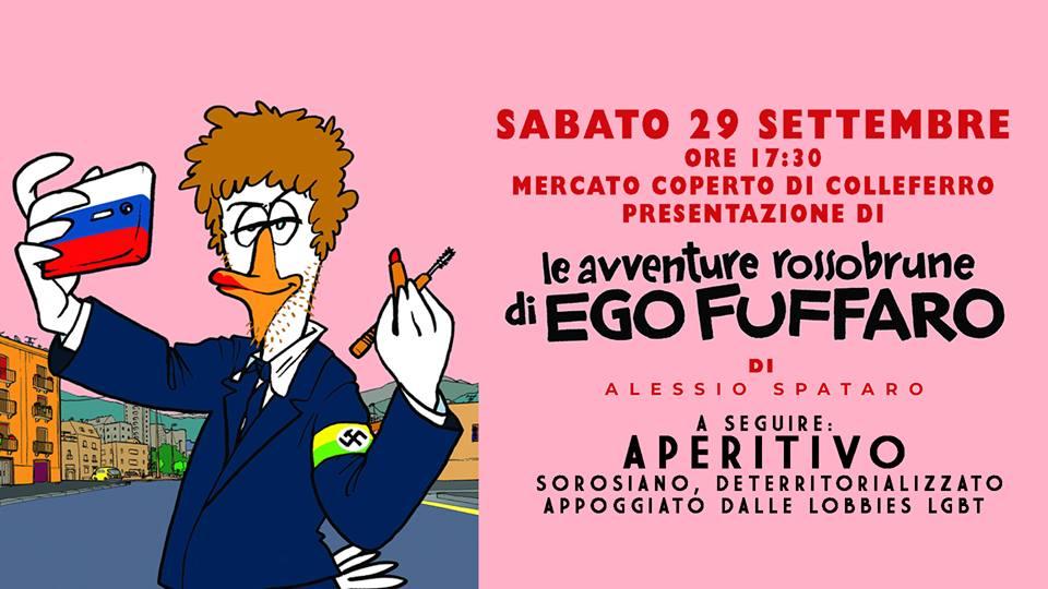 Colleferro, il 29 Settembre Alessio Spataro presenterà Le avventure Rossobrune di Ego Fuffaro