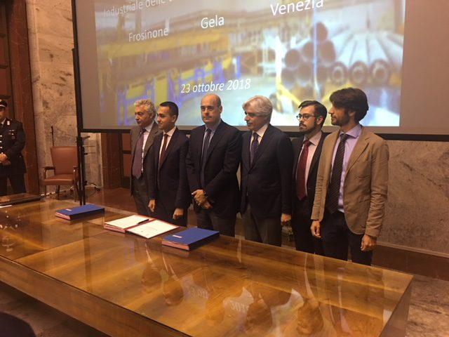 Firmato presso il MISE l'accordo per l'Area di Crisi Complessa di Frosinone