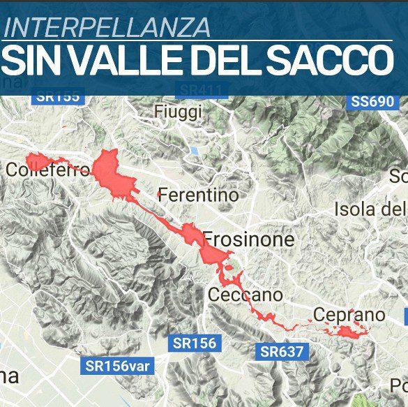 Bonifica Valle del Sacco, oggi interpellanza del Governo