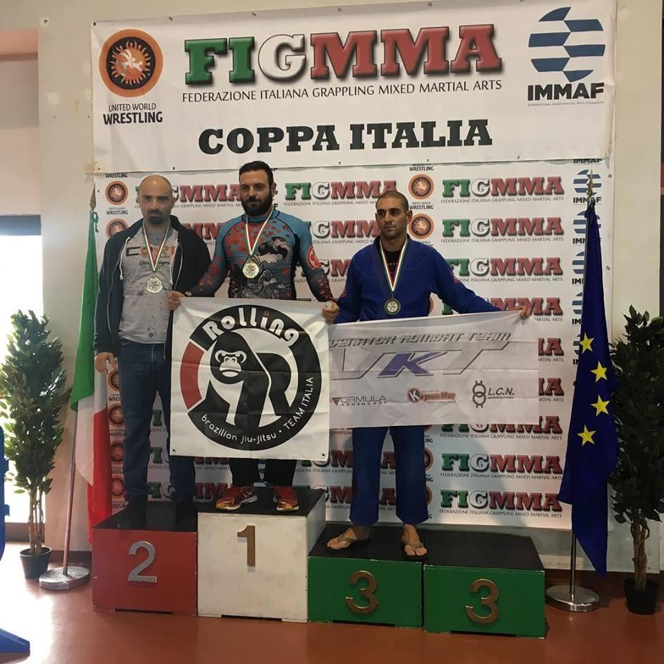 Asd Judo Frascati, Moraci alza la sua terza Coppa Italia di brazilian ju jitsu