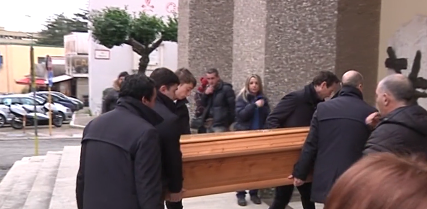 Colleferro, funerali Alberto Giannetti