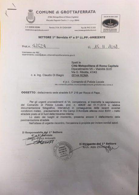 Perdite idriche a Grottaferrata: il sindaco Andreotti pronto a fare un consiglio comunale straordinario