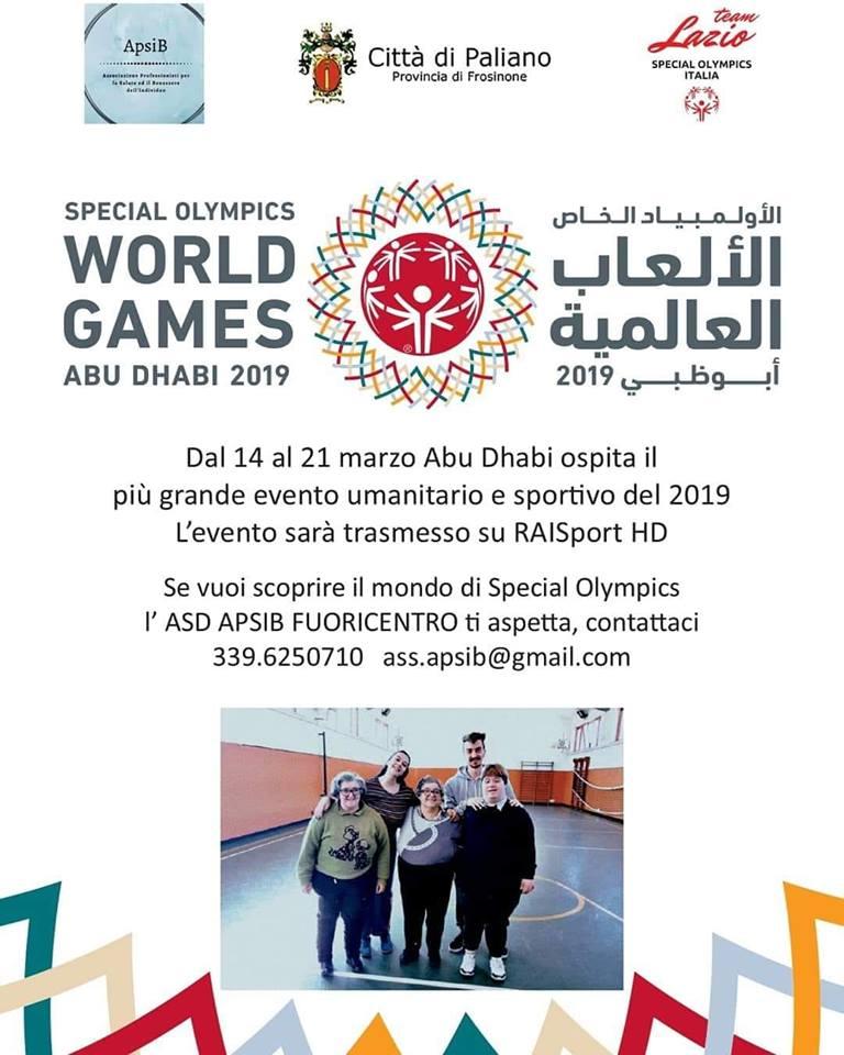 Anche Paliano parteciperà con i suoi atleti al World Games Abu Dhabi 2019