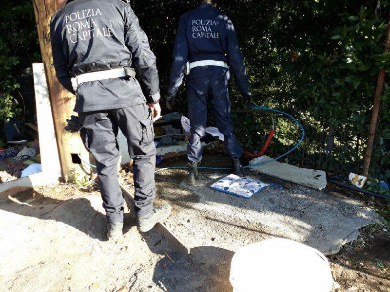 Controlli anti-degrado: rimossi insediamenti abusivi in zona Marconi, Portuense, Tor di Quinto (FOTO)