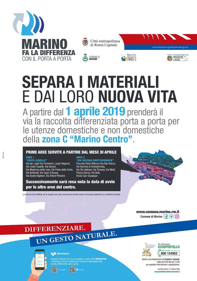 """Marino, sistema """"porta a porta"""" anche al centro: tutte le zone interessate"""