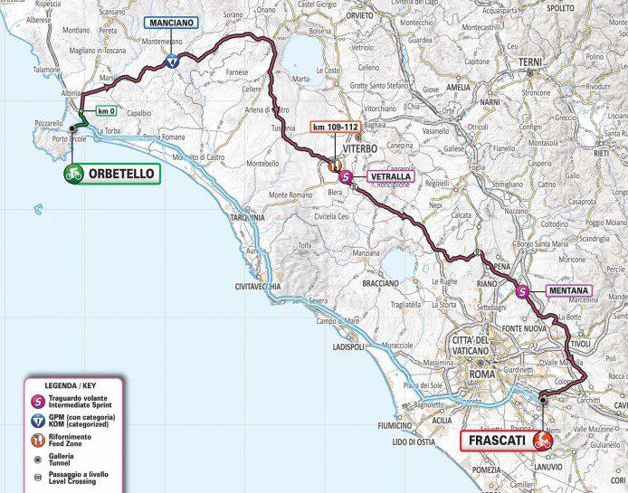 Giro d'Italia 2019, chiusa l'uscita dello svincolo di Castelnuovo di Porto per la tappa Orbetello-Frascati: info e orari