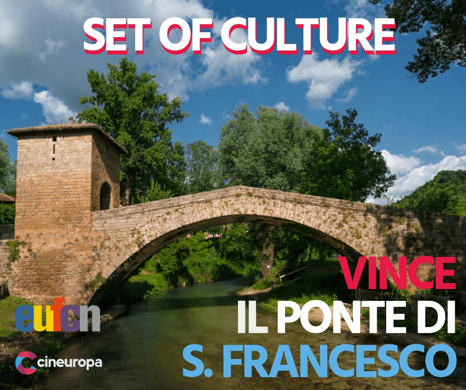 """Ponte Medievale di San Francesco di Subiaco è il primo classificato nel concorso internazionale """"Set of Culture"""" per location cinematografiche"""