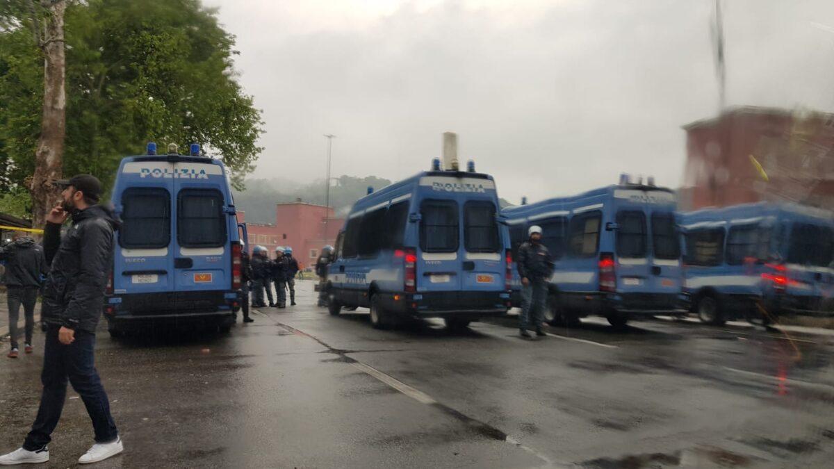 Lazio Atalanta Stadio Olimpico tafferugli e violenze