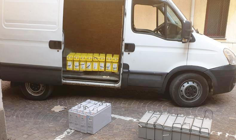 Colleferro, prende a noleggio un furgone e ruba le batterie da un ripetitore telefonico: arrestato dai Carabinieri