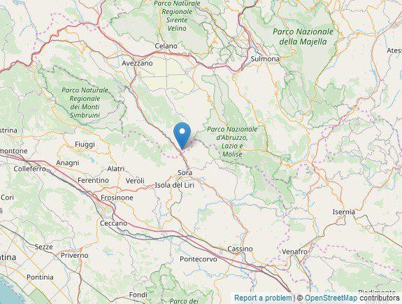 Balsorano due scosse di terremoto oggi sabato 30 novembre 2019