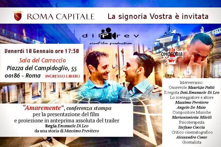 Roma, a gennaio verrà presentato il film di Previtero e Di Leo AmareMente