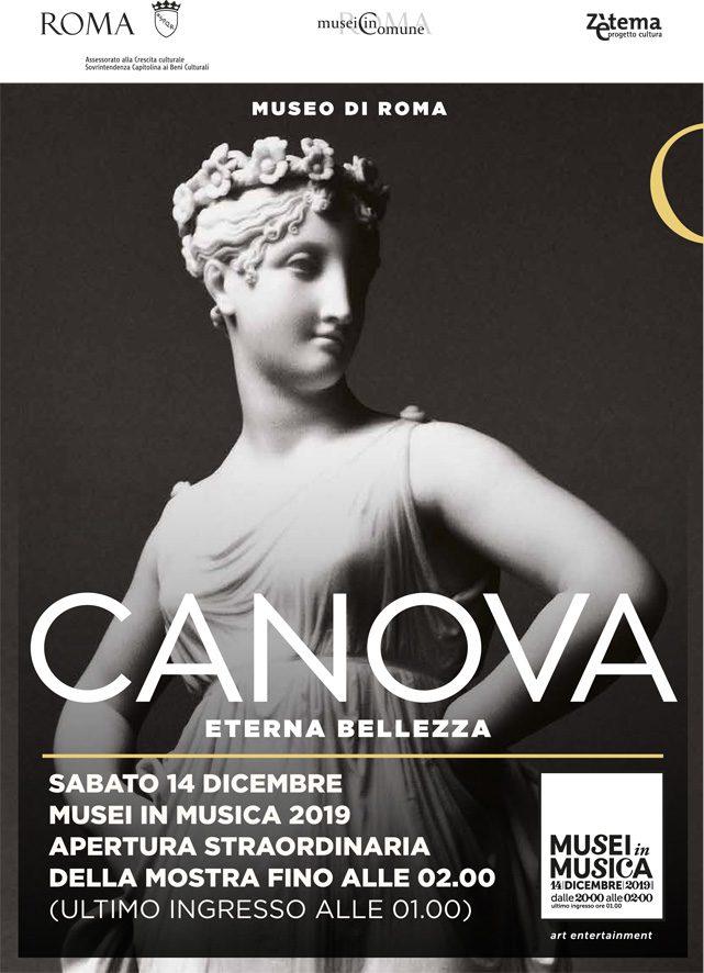 Roma, mostra Canova e Impressionisti segreti: aperture serali e a costi agevolati. Info e orari