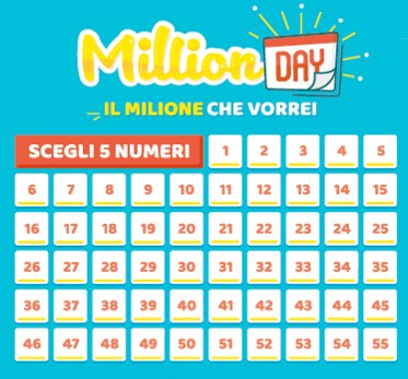 Estrazione Million Day numeri vincenti oggi 18 febbraio 2020