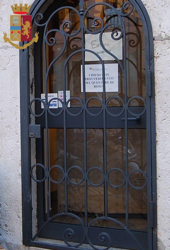 civitavecchia chiuso locale piazza leandra