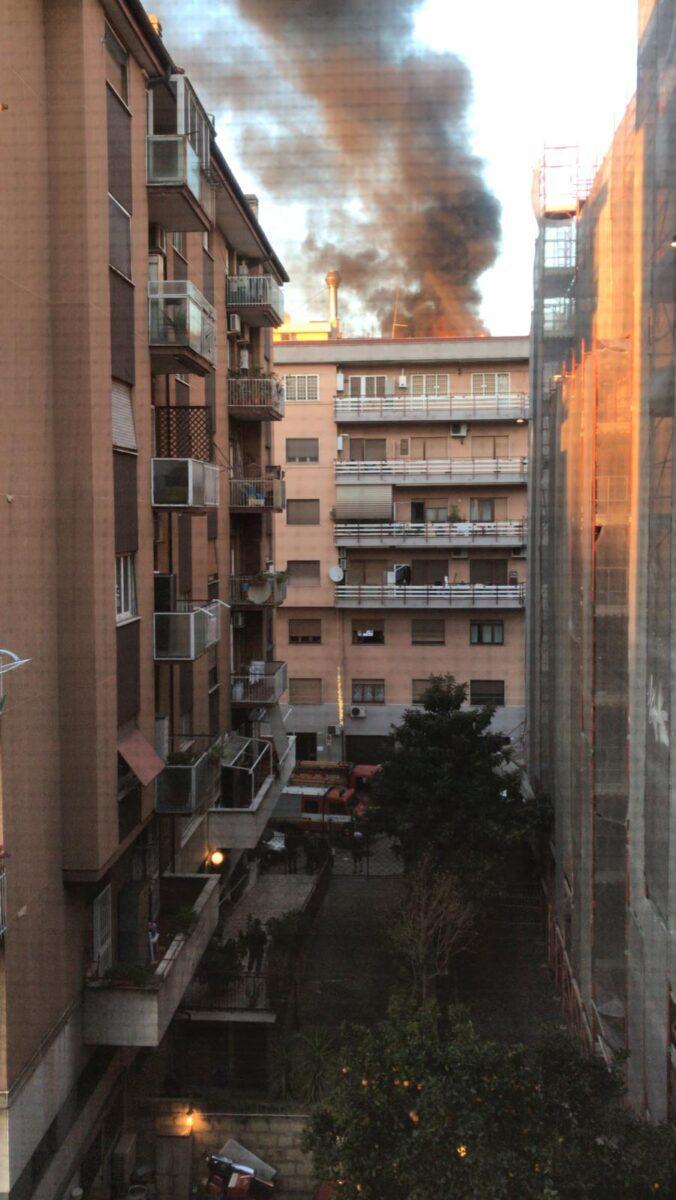 Magliana, incendio in un appartamento oggi 5 gennaio 2020