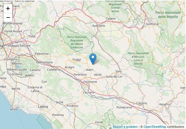 collepardo terremoto oggi 13 gennaio 2020
