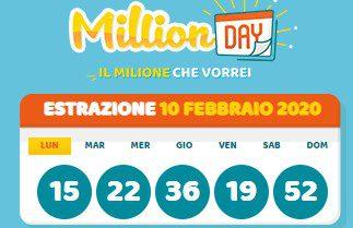 Estrazione Million Day: numeri vincenti oggi 29 febbraio 2020