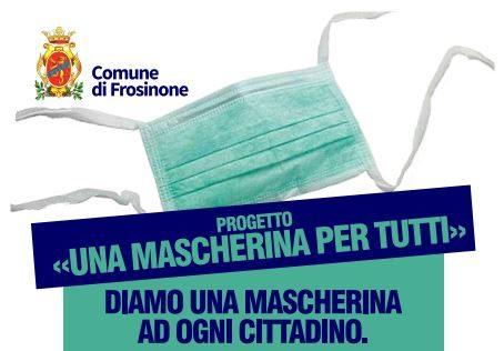 Frosinone, il Comune distribuirà mascherine a tutti i cittadini