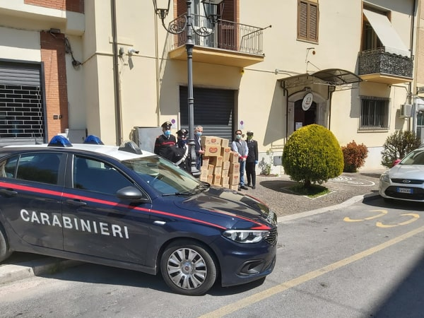 ceprano covid19 carabinieri pasta famiglie difficoltà