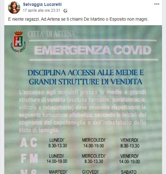 selvaggia lucarelli sindaco artena angelini facebook
