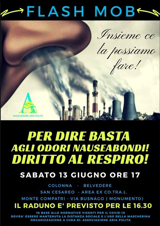 Diritto al Respiro Flash mob Colonna San Cesareo Monte Compatri