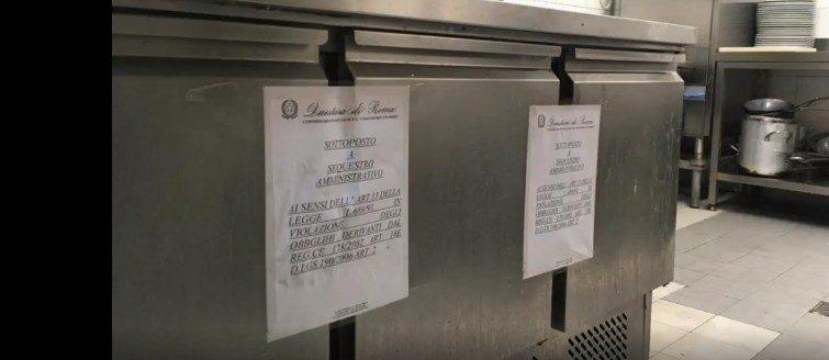 Roma, chiuso un ristorante dalla polizia del commissariato Colombo e dalla Asl Rm2: presenza di feci di topo e alimenti privi di tracciabilità