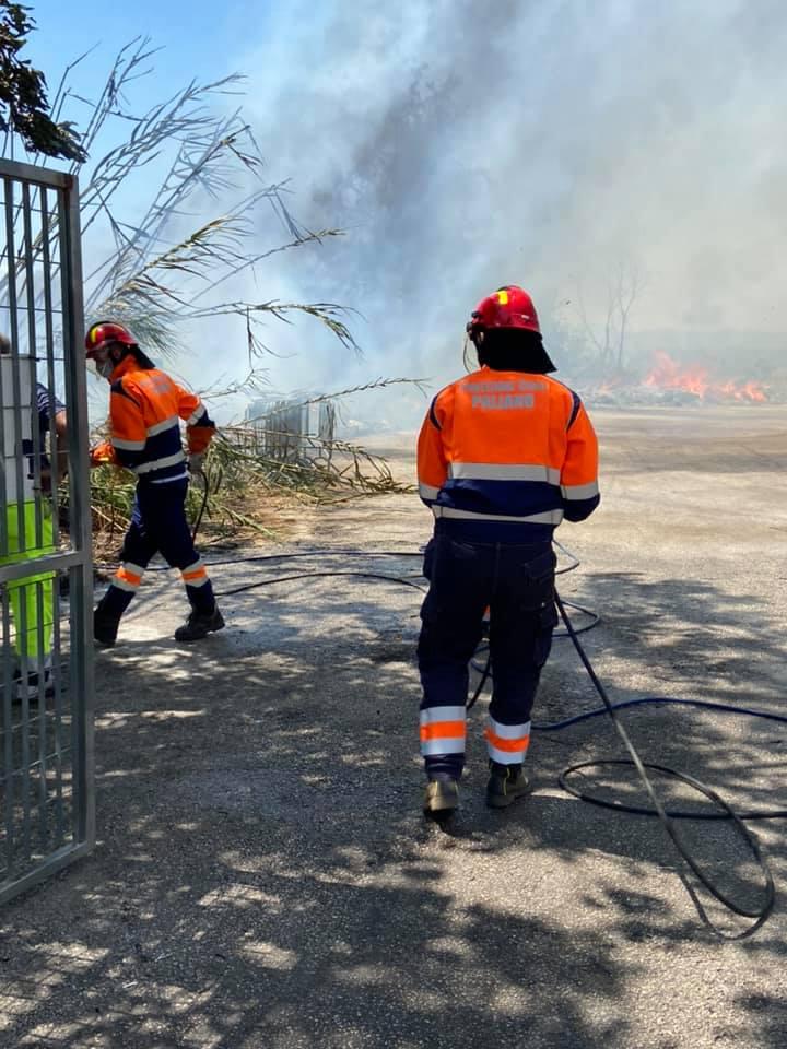 paliano incendio isola ecologica