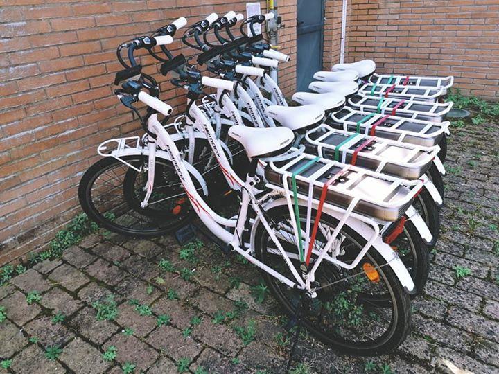 San Cesareo, cerimonia inaugurale delle E-bike
