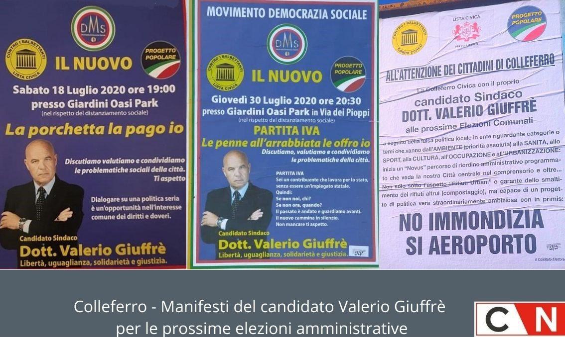 Manifesti elettorali Giuffrè
