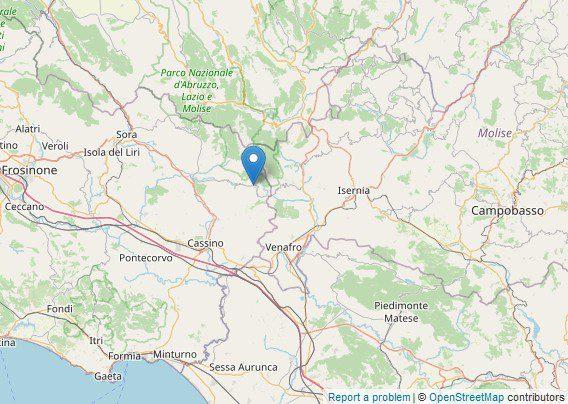 San Biagio Saracinisco scossa di terremoto oggi 22 settembre 2020