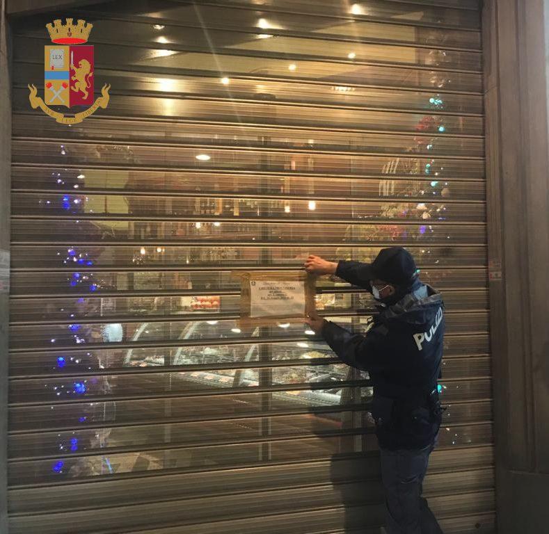 Roma, controlli anti Covid della Polizia: chiuso un locale a Via Cola di Rienzo
