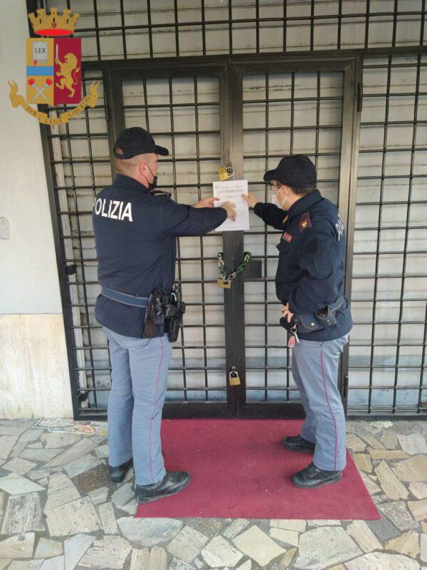 anagnina chiuso bar per cinque giorni per inadempienza delle norme anti covid