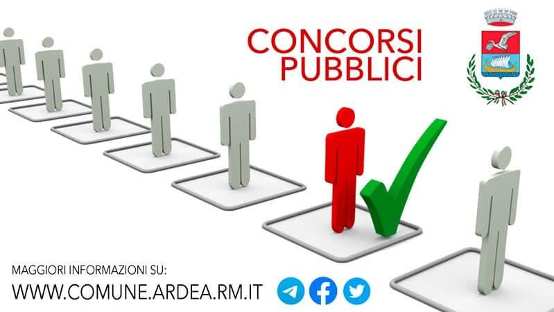Concorsi Comune Ardea pubblicate graduatorie date